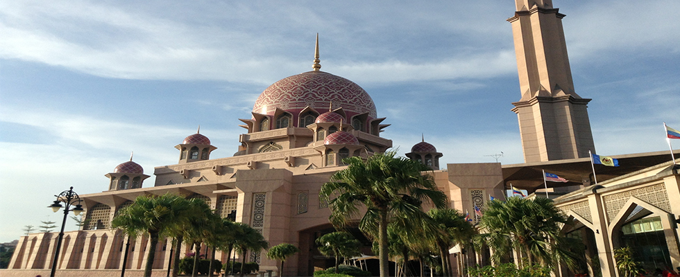 The Pink Mosque in Putrajaya